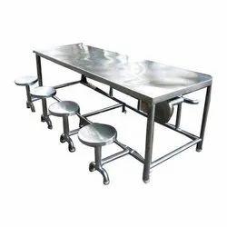Polished SS Dining Furniture, Shape: Rectangular