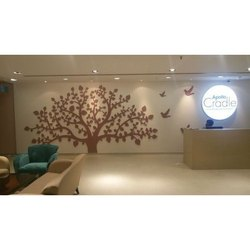 Reception LED Branding Board