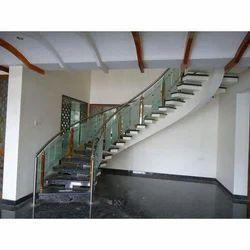 Modern Stair Glass Railing
