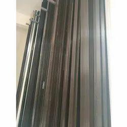 Flat Door Black Aluminium Profile, For Kitchen Shutter Handle