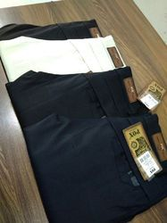 POX NAVY BLUE and CREAM Cotton Stretchable Trousers