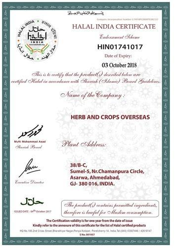 Herbs & Crops Overseas - Manufacturer from Asarwa, Ahmedabad