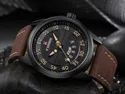 Brown Nf9124 Naviforce Date/day Function Analog Watch