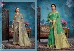 Kanjivaram Tussar Silk Saree With Blouse