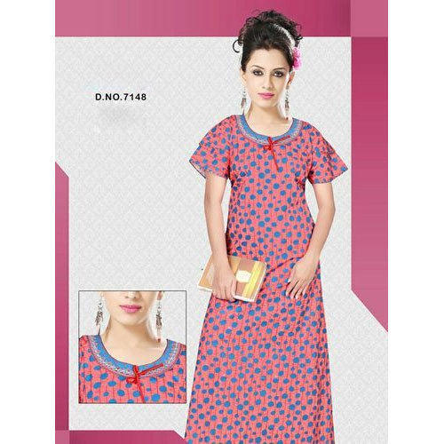ea7451f32 Ladies Cotton Printed Nightgown