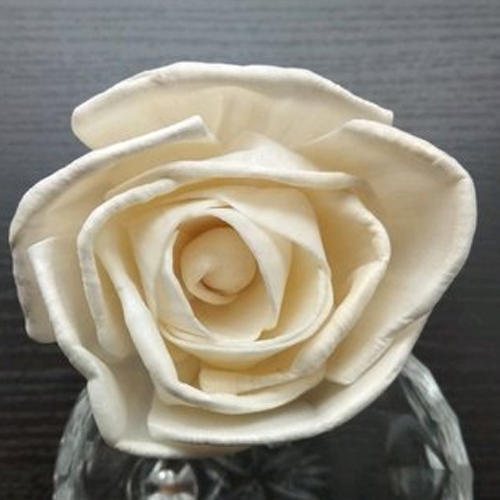 White Artificial Sola Flower