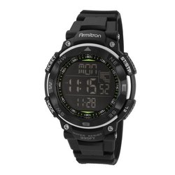 Armitron Pro 53 mm 40-8254blk Black Mens Digital Chronograph Watch