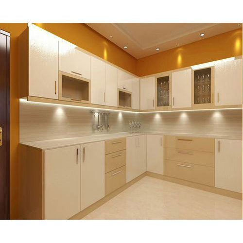 Paint Metal Kitchen Cabinets: Stainless Steel Acrylic Kitchen Cabinet, Rs 1100 /square
