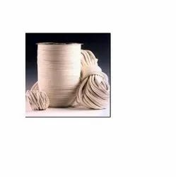 White Cotton Piping Cords, Shape: Round
