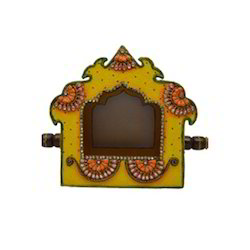 Wooden & Paper Mache Doli With Kundan Work