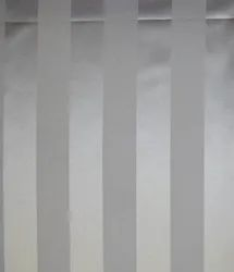 White Satin Stripe Fabric for Hotel Bed Linens in Pure Cotton