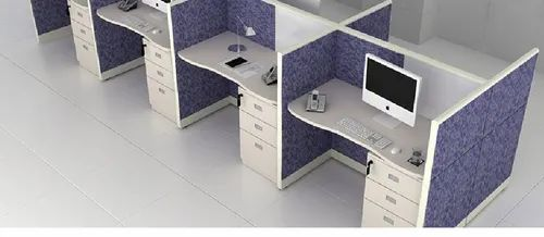 White Linear Modular Office Set