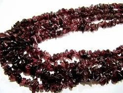 Natural Garnet Uncut Free Shape Chip Beads 6 To 10 Mmstrand 34inches Long