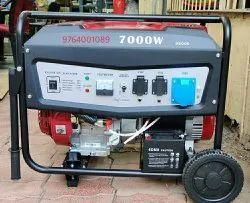 Non-Silent Gasoline 7kva selfstart petrol portable generator, For Home