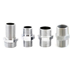 SS Buttweld Threaded Hex Nipple, For Chemical Handling Pipe