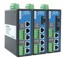 5-Port Managed Industrial Ethernet Switch with 2 Serial Ports