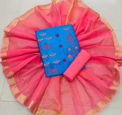 Ligalz Presents Gless Cotton Dress Material