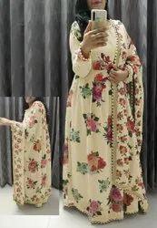 Fancy Digital Print Gown