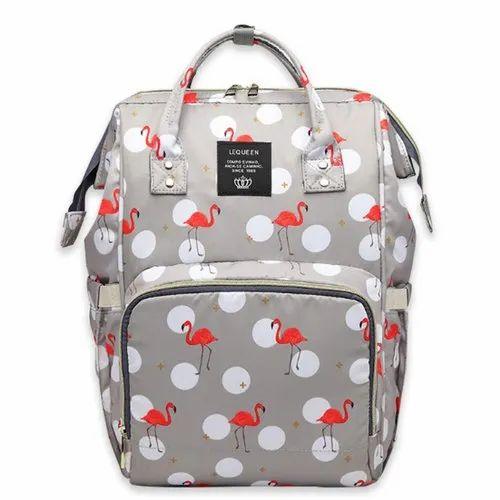 d3605f3d5 Grey Bambika Diaper Bag Backpack