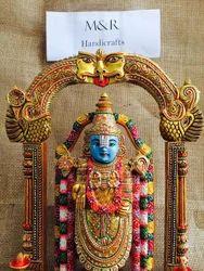 Wooden Painted Tirupati Bala ji
