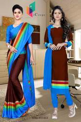 Uniform Saree and Salwar Combo