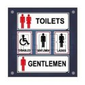 Np Label Rectangular Toilet And Restroom Signs Name Plate