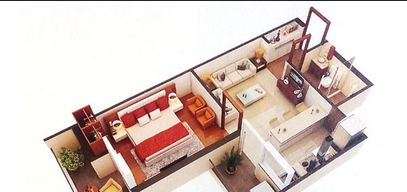 1 Bhk Apartments Interior Designing In Dalanwala Dehradun Golden