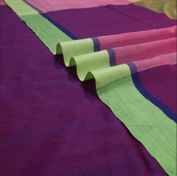 Handwoven Soft Cotton Mupaggam Style Cotton Saree In Pastel Hues 920512382
