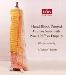 Jaipur Cotton With Chiffon Dupatta Suits
