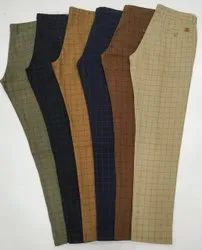 Mens Check Cotton Pant