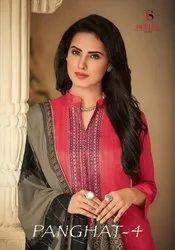 Deepsy Suit Panghat Vol 4 Jam Silk Cotton 45001-45008 Series Suit Wholesaler