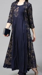 Ladies Full Length Kurti with Long Shrug