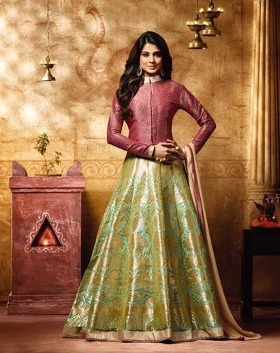 e765501586 Multi Party And Wedding Wear Raw Silk Salwar Suits, Rs 1995 /piece ...