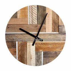 Round shape multi color decorative Wooden Clock