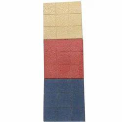 Square Red Ceramic Parking Tile, Matt, Thickness: 30 mm