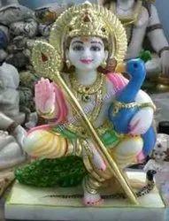 Murugan Marble God Statue
