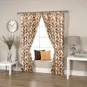 Ravi Exports Printed Vertical Leafy Brown Curtain, Packaging Type: Packets