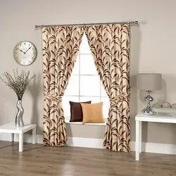 Leafy Brown Curtain