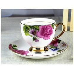 Ceramic Printed Cup and Saucer