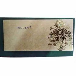 Printed Kraft Paper Designer Wedding Envelope, Packaging Type: Packet