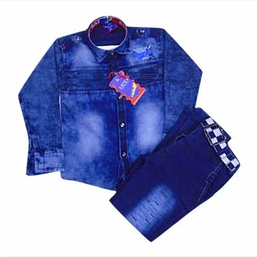 611eeeeab3a Boys Kids Denim Pant Shirt