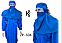 Full Sleeve Water Proof Fabric Gown With Leg Cover & Hood - Kinkob