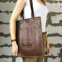 Brown Ladies Buffalo Leather Shoulder Bag