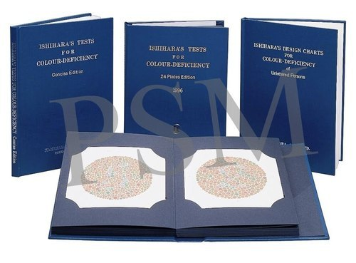 Ishihara color blindness test book 24 plates