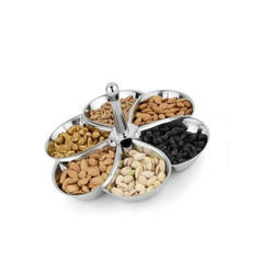 Stainless Steel Round Serving Platter with Handle Diwali Gifting/Corporate Gifting