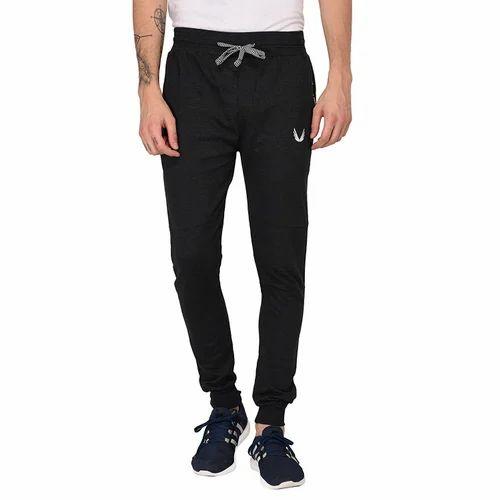 34a0d8f1cb Male Melange Black Finger' s Mens Black Cotton Track Pant/Active Pants  Joggers