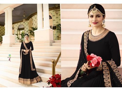 7f23c700031 Women Georgette Embroidered Semi-Stitched Anarkali Suit