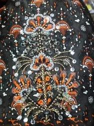Design Casual Wear Hand Work Saree, With blouse piece, 5.2 m (separate blouse piece)