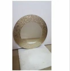 Glossy Round Looking Glass Mirror