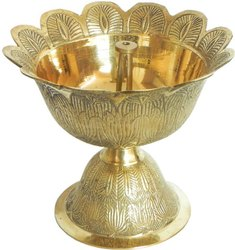 AJN-124 Gold Plated Diya Stand